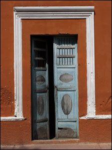 Door in Merida, Yucatan, Mexico