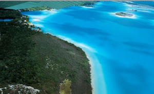 The blue of Bacalar Lagoon Yucatan