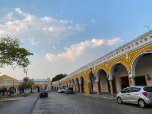 The empty streets of Izamal